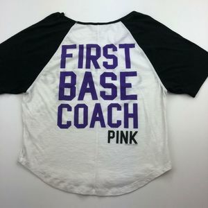 Victoria's Secret T-Shirt Baseball Small A16-09